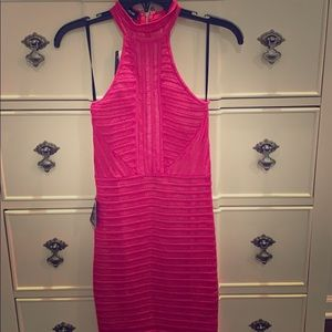 Brand new with tags gorgeous hot pink Bebe dress